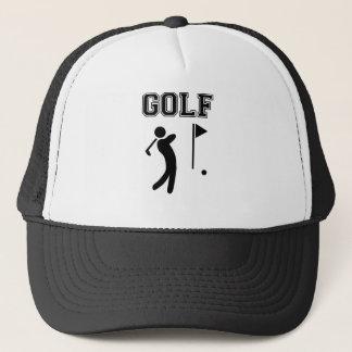 golf simple black design trucker hat