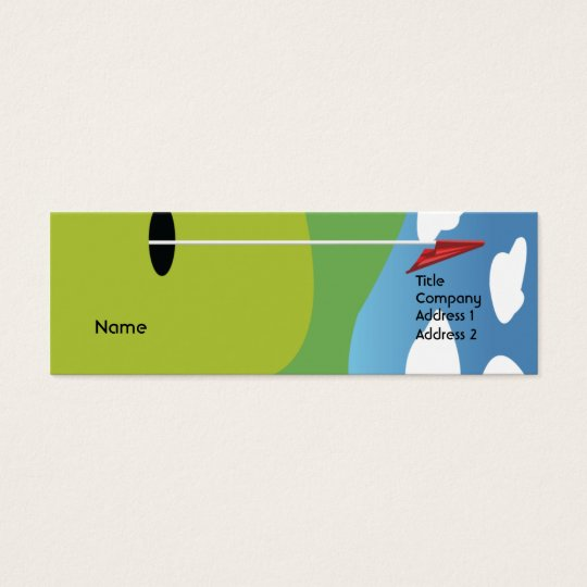 Golf - Skinny Mini Business Card