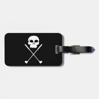 Golf Skull Crossed Clubs Luggage Tag