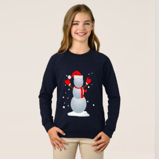Golf Snowman T-Shirt Funny Christmas Gift Shirt