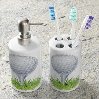 Golf Soap Dispenser And Toothbrush Holder