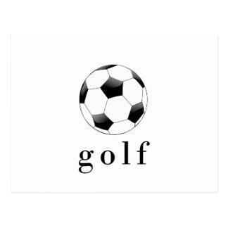 Golf Soccer Ball Funny Sports T-Shirt Postcard