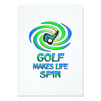 Golf Spins 13 Cm X 18 Cm Invitation Card