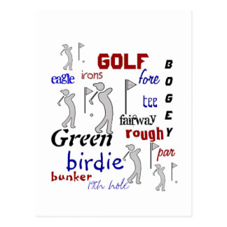 Golf, Sport, Motivational Postcard