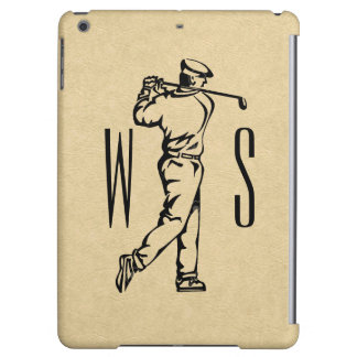 Golf Sports Design on Leather Look Case For iPad Air