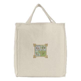 Golf Square Canvas Bag