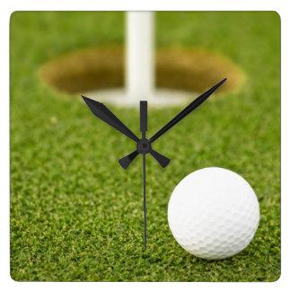 Golf Square Wall Clock
