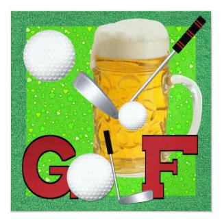 Golf - SRF 13 Cm X 13 Cm Square Invitation Card