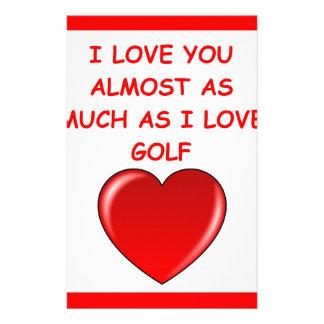 golf stationery