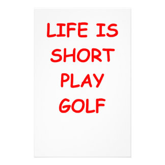 golf stationery design