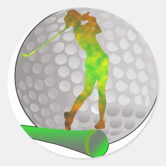 Golf Round Sticker