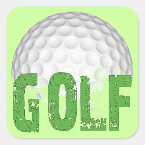 Golf Square Stickers