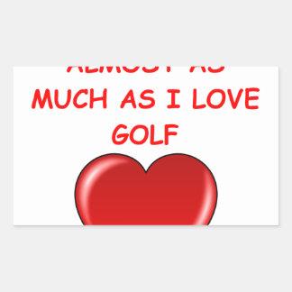 golf rectangular sticker