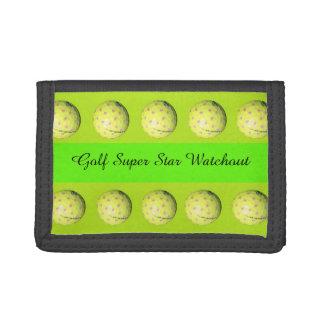 Golf Super Star, Unisex Trifold Wallet. Tri-fold Wallet