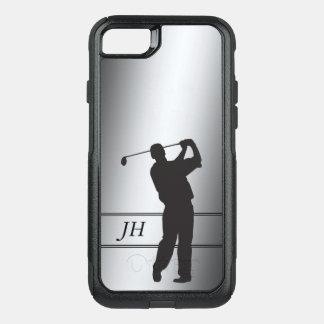 Golf Swing Monogram Silver OtterBox Commuter iPhone 8/7 Case