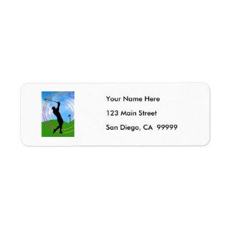 Golf Swing Return Address Label
