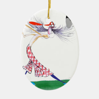 golf swing, tony fernandes ceramic oval decoration