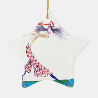 golf swing, tony fernandes ceramic star decoration