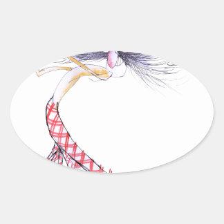 golf swing, tony fernandes oval sticker