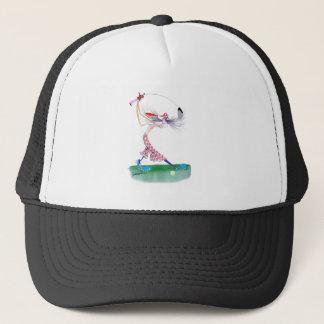 golf swing, tony fernandes trucker hat