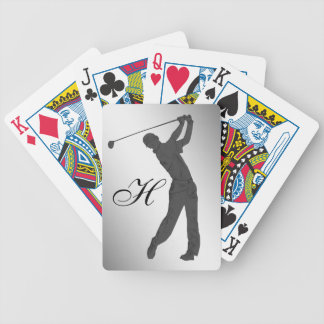 Golf Swinger Customizable Bicycle Playing Cards