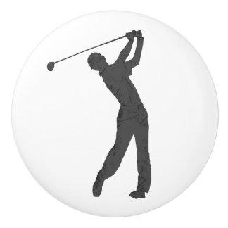 Golf Swinger Customizable Ceramic Knob