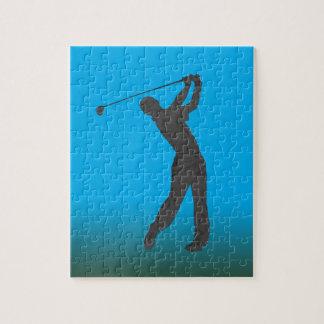Golf Swinger Customizable Jigsaw Puzzle
