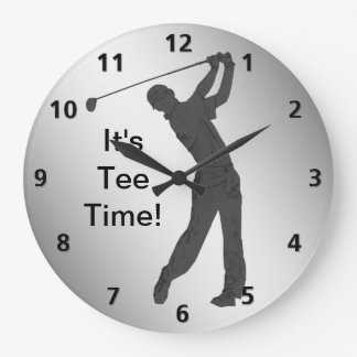 Golf Swinger Customizable Large Clock