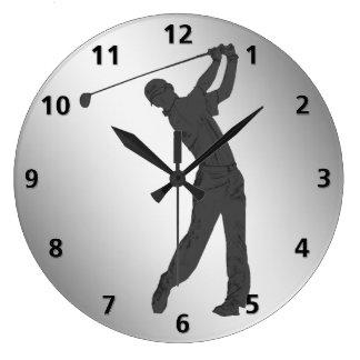 Golf Swinger Customizable Large Clock
