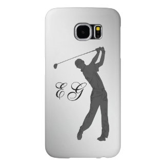 Golf Swinger Customizable Monogram Samsung Galaxy S6 Cases