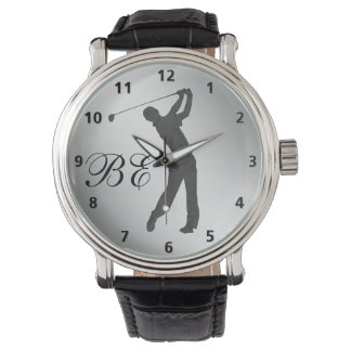 Golf Swinger Customizable Monogram Watch