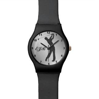 Golf Swinger Customizable Monogram Watches