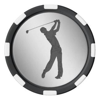 Golf Swinger Customizable Poker Chips