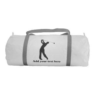 Golf Swinger Customizable Text Gym Duffel Bag