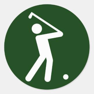 Golf Symbol Sticker