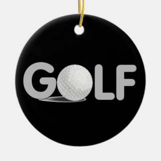 GOLF T-shirts and Gifts Round Ceramic Decoration