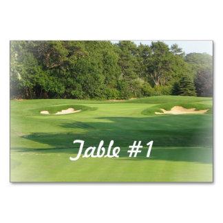Golf Table Cards