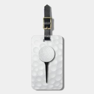 Golf Tee | Black Luggage Tag