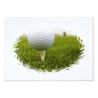 Golf Tee Design Invitation
