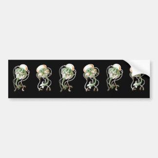 Golf Tee Medusa Bumper Sticker