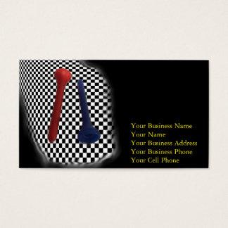 Golf Tee Psychobabble Splash Business Card