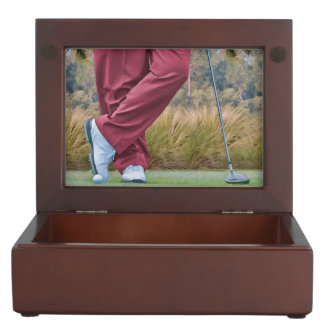 Golf Tee Time Customizable Keepsake Box