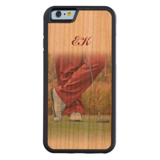 Golf Tee Time Customizable Monogram Carved Cherry iPhone 6 Bumper Case