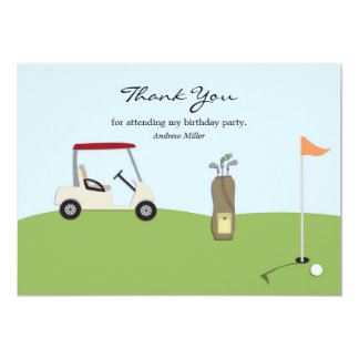 Golf Thank You Flat Card 13 Cm X 18 Cm Invitation Card