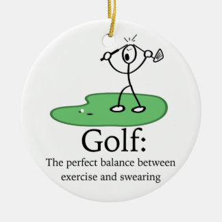 Golf: The perfect balance Christmas Ornament