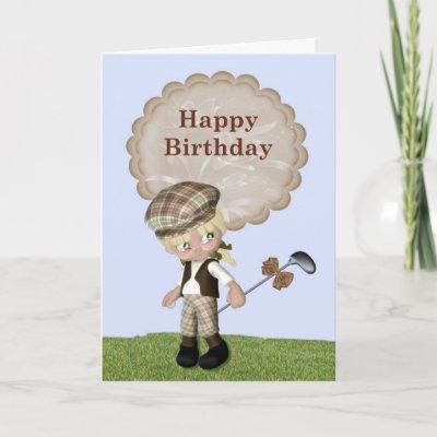 Golf Themed Birthday Card