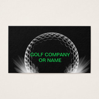 Golf Theme Trainer Instructor Business Card
