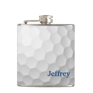 Golf Themed Flask Personalised
