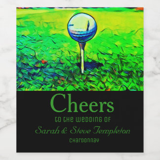 Golf Themed Wedding Wine Labels