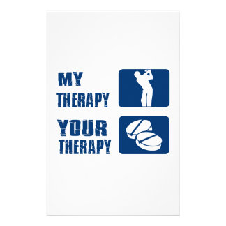 golf therapy designs personalised stationery